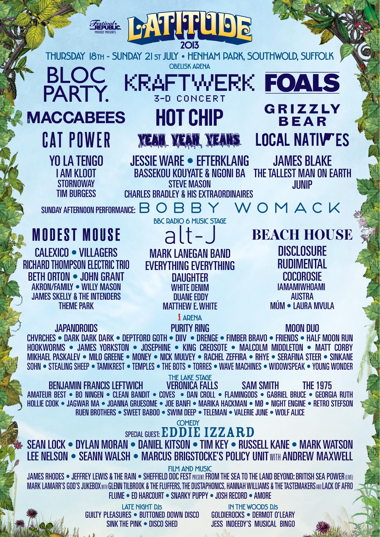 Latitude completes line up with up and coming talent