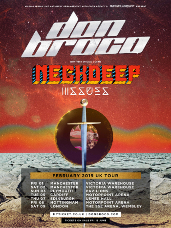 Don Broco announce Wembley Arena show