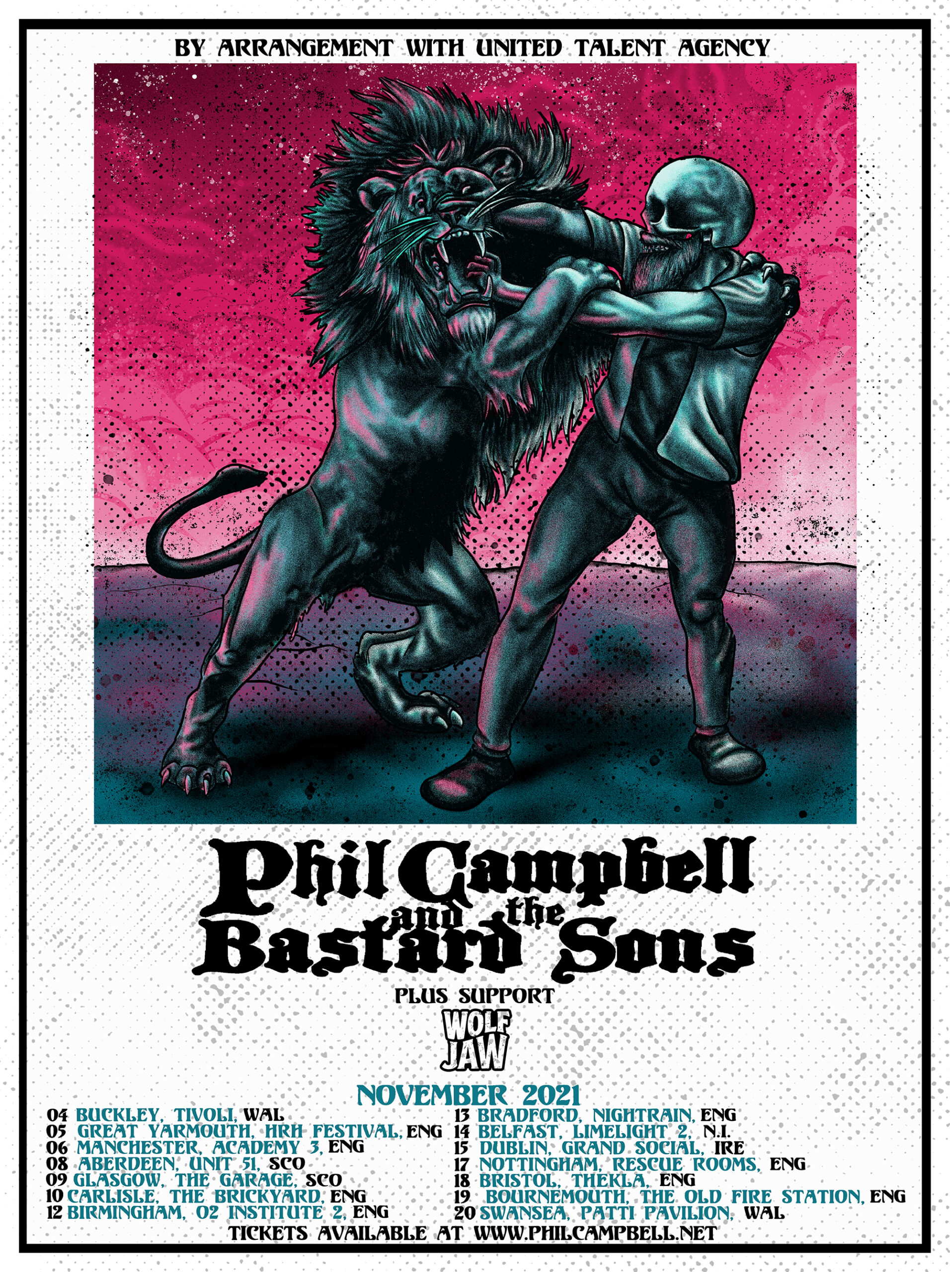 PHIL CAMPBELL AND THE BASTARD SONS Announce Wolf Jaw as UK tour support for November