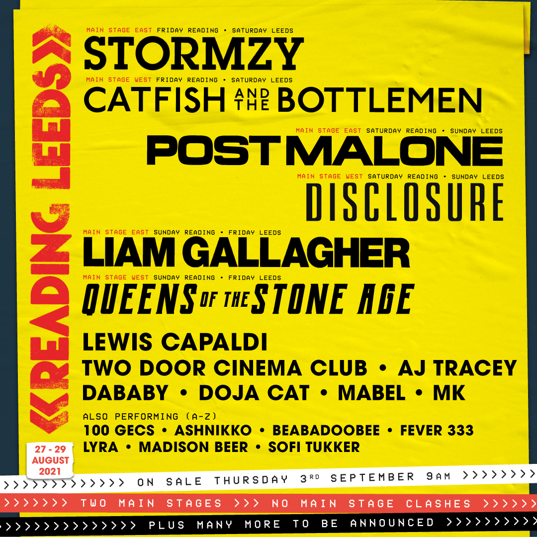 HEADLINERS ANNOUNCED FOR THE RETURN OF READING AND LEEDS FESTIVALS 2021