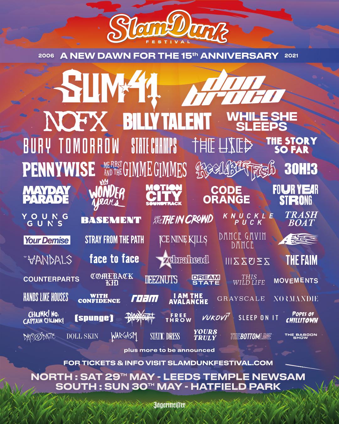 Slam Dunk Festival Reveal More Artists For 2021