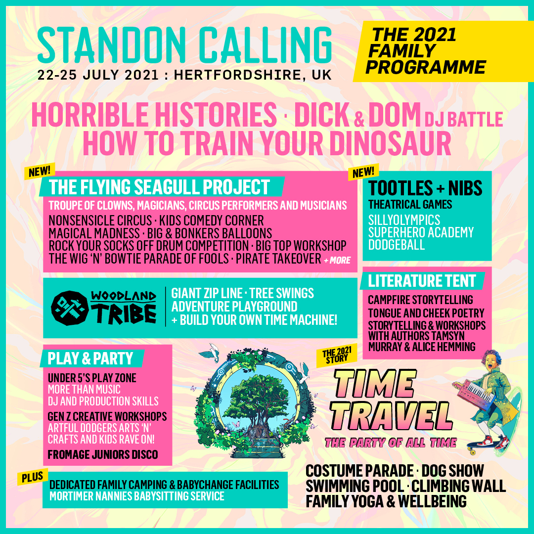 STANDON CALLING announces incredible family entertainment programme