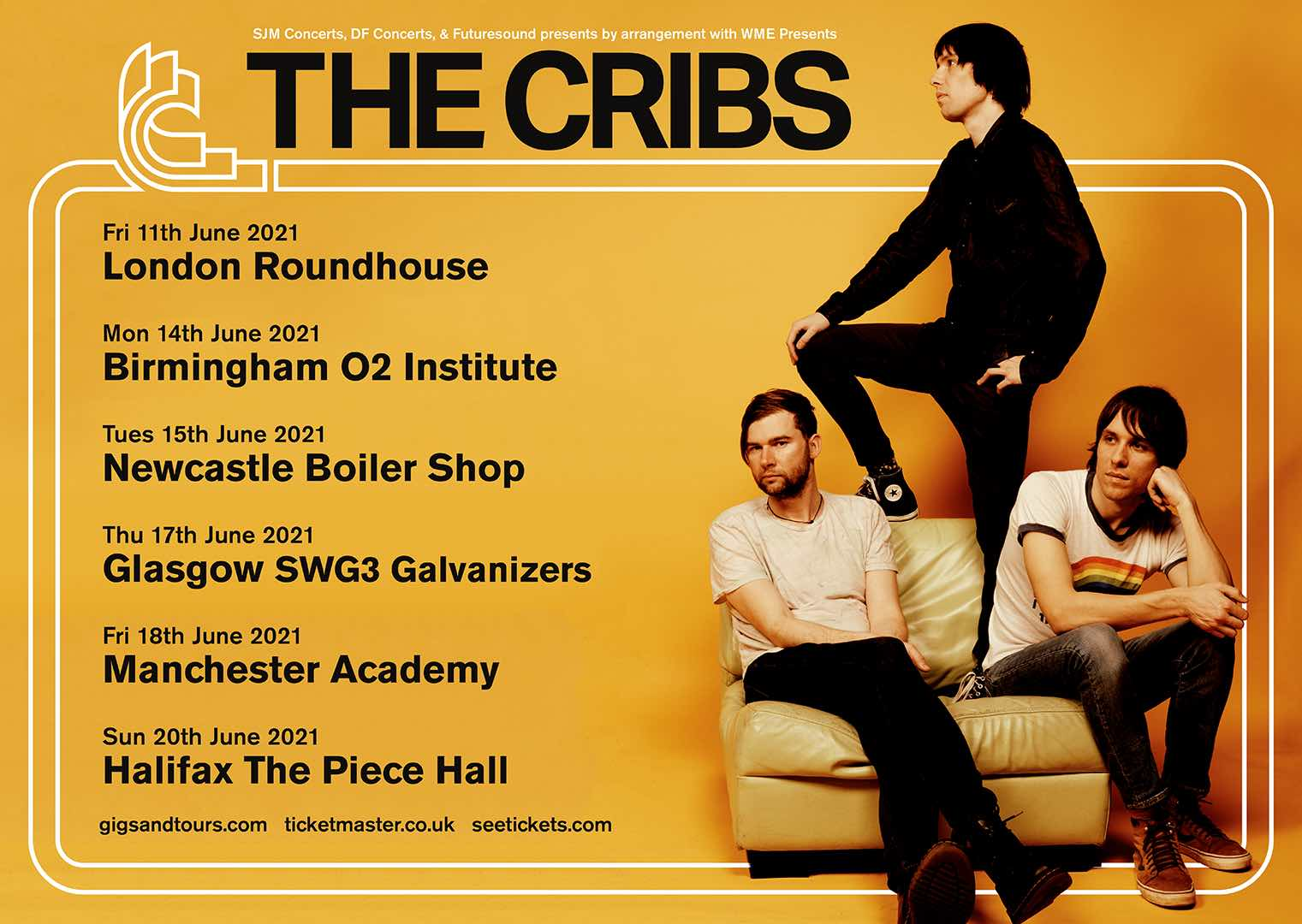 The Cribs announce UK tour for June 2021